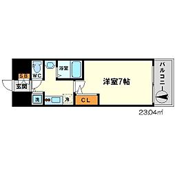 SDグランツ新大阪[9階]の間取り