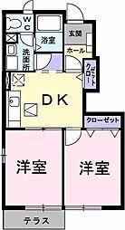 埼玉県春日部市緑町2丁目の賃貸アパートの間取り