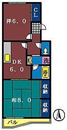 山本マンション[303号室]の間取り