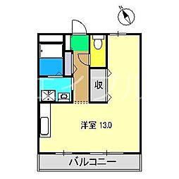 コーポリベール A棟[3階]の間取り