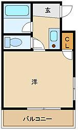 シャルマンフジ出屋敷[2階]の間取り