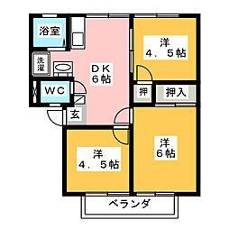 アーバンハイツ栄[1階]の間取り