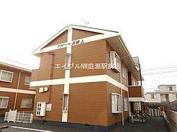 岡山県倉敷市大島の賃貸アパートの外観