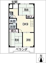 メゾン広田[1階]の間取り