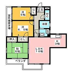 静岡県浜松市中区曳馬5丁目の賃貸マンションの間取り