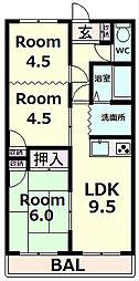 ダーリング3[3階]の間取り