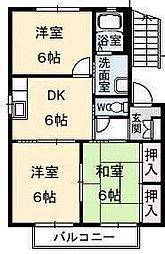 コスモガーデンA・B・C・D[C-101 号室号室]の間取り