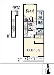 ダフネ[2階]の間取り