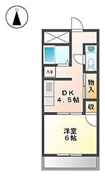 エスポワール名城[4階]の間取り