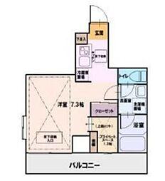 ポエム湘南台[5階]の間取り