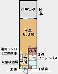 東京都江戸川区春江町4丁目の賃貸マンションの間取り