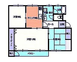 広島県広島市安佐北区落合3丁目の賃貸マンションの間取り