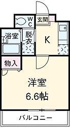 愛知県安城市小堤町の賃貸アパートの間取り
