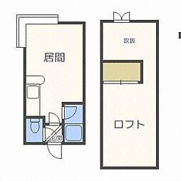 クリフトンテラスB[2階]の間取り