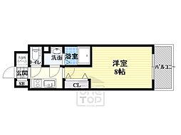 サムティ都島高倉町 7階1Kの間取り