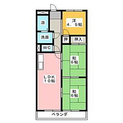メゾンフローレス[4階]の間取り
