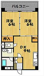 ハイツ内藤[4F号室]の間取り