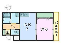 艸香駅前ビル[302号室]の間取り