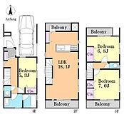 建物参考プランです。建物価格1850万円