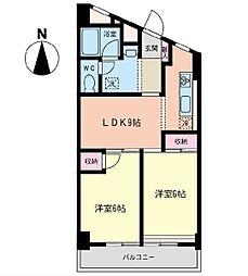 第5山仁ビル[4階]の間取り