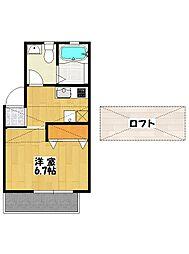 ロワール南八幡[2階]の間取り