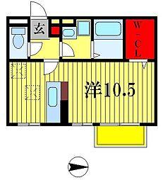 モナリエ古ヶ崎II[2階]の間取り