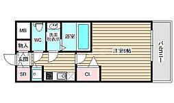 プレサンス大阪福島レシェンテ 12階1Kの間取り