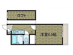 寺台ロフト[1階]の間取り