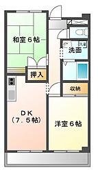キャッスルコハナ[2階]の間取り