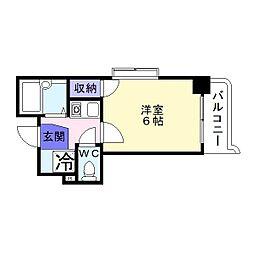 ロフトアビックス[4階]の間取り