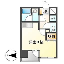 マストスタイル東別院[11階]の間取り