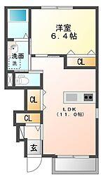仮)佐野新築アパート[1階]の間取り
