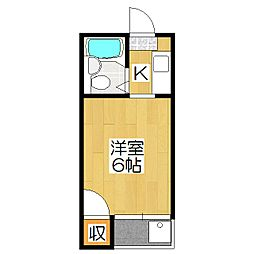 桃山フラット[3階]の間取り