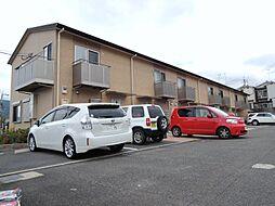 京都府京都市山科区西野山中鳥井町の賃貸アパートの外観