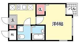 メゾンド平岡3番館[2階]の間取り
