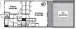 コーポ・マヤ信濃町(リノベーション物件)[301号室号室]の間取り