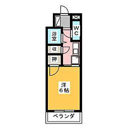 フジマンション平針[4階]の間取り