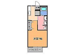 ファンタジーハイツ[1階]の間取り