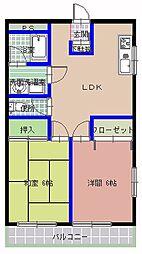 G'S PLACE (ジーズ プレイス)[201号室]の間取り