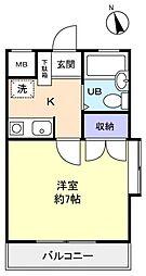 芝山マンション[2階]の間取り