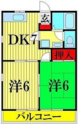 埼玉県川口市戸塚3の賃貸アパートの間取り