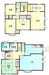 [一戸建] 静岡県富士市中野 の賃貸【/】の間取り