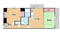 兵庫県神戸市灘区赤坂通4丁目の賃貸マンションの間取り