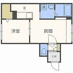 北海道札幌市東区北二十四条東16の賃貸マンションの間取り