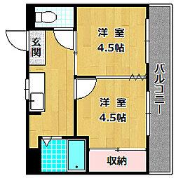 M'プラザ津田駅前七番館[5階]の間取り
