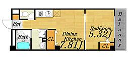 ブリックスハウス天満[2階]の間取り