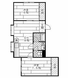 ボーヌングローゼン[1階]の間取り