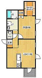 イルマーレN4[2-B号室]の間取り