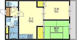 大阪府東大阪市中小阪2丁目の賃貸マンションの間取り