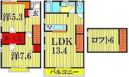 [テラスハウス] 埼玉県越谷市レイクタウン1丁目 の賃貸【/】の間取り